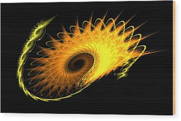 Wood Print featuring the digital art Pulsar by Steed Edwards