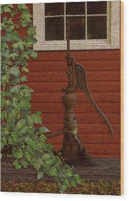 Pump Wood Print by Jack Zulli
