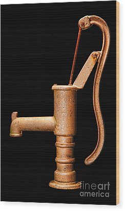 Pump Wood Print by Olivier Le Queinec