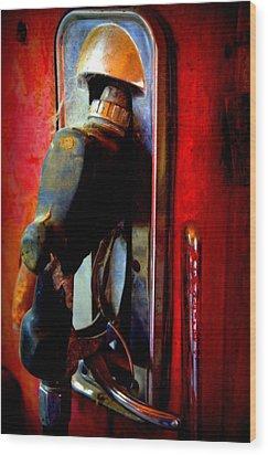 Pump Up The Vintage Wood Print by Karen Wiles