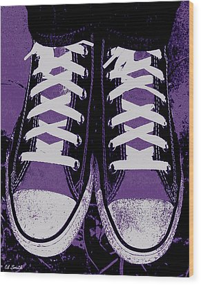 Pumped Up Purple Wood Print by Ed Smith