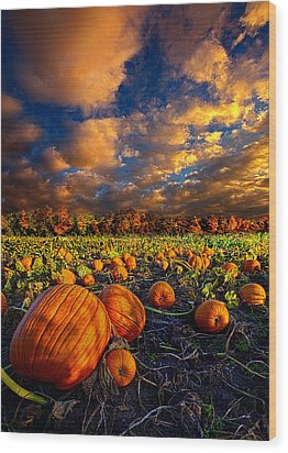 Pumpkin Crossing Wood Print