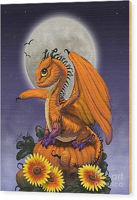 Pumpkin Dragon Wood Print