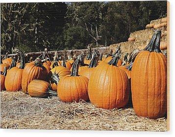 Pumpkin Goofing Off Wood Print
