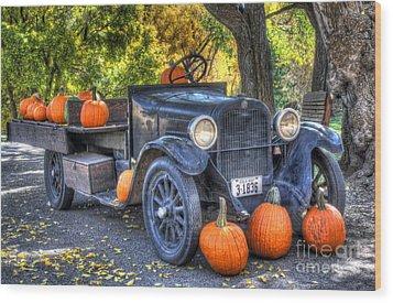 Pumpkin Hoopie Wood Print by Bob Hislop