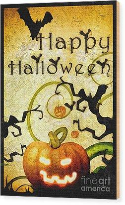 Pumpkin Wood Print by Mo T