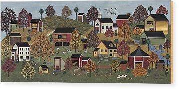 Pumpkin Season Wood Print by Medana Gabbard