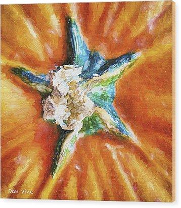 Pumpkin Star Wood Print