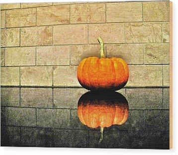 Pumpkin Still Life Wood Print