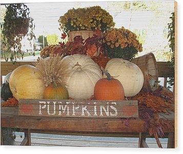 Pumpkin Welcome  Wood Print