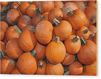 Wood Print featuring the photograph Pumpkins by Diane Lent