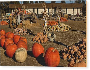 Wood Print featuring the photograph Pumpkins by Michael Gordon