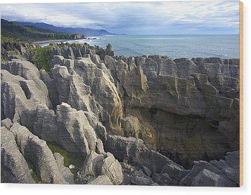 Wood Print featuring the photograph Punakaiki Pancake Rocks #2 by Stuart Litoff