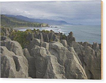 Wood Print featuring the photograph Punakaiki Pancake Rocks by Stuart Litoff