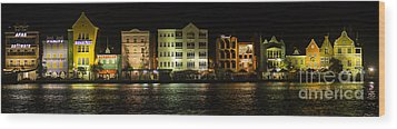 Punda At Night Panoramic Wood Print