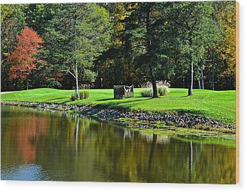 Punderson Golf Course Wood Print by Frozen in Time Fine Art Photography