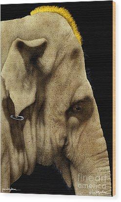 Punkyderm... Wood Print by Will Bullas