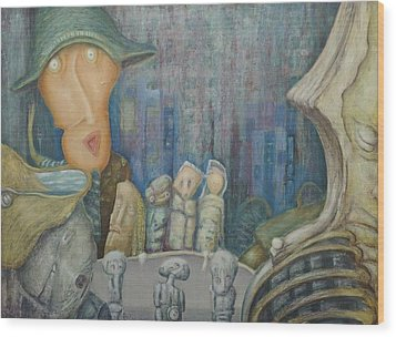 Puppet Theatre Wood Print by Slobodan Loncarevic
