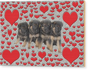 Puppy Love Wood Print by Aimee L Maher Photography and Art Visit ALMGallerydotcom