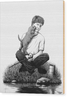 Puppy Love Wood Print by Roger Jansen