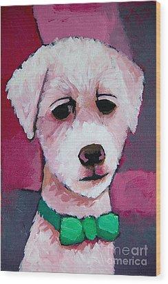 Puppy Wood Print by Lutz Baar