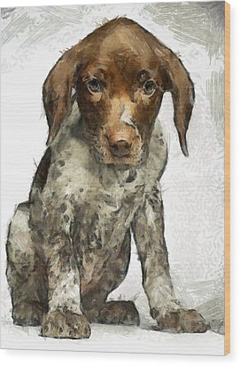 Wood Print featuring the painting Pupy by Georgi Dimitrov