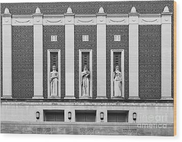 Purdue University Elliott Hall Wood Print by University Icons