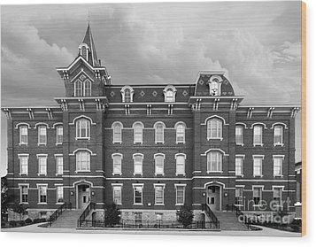 Purdue University Hall Wood Print by University Icons