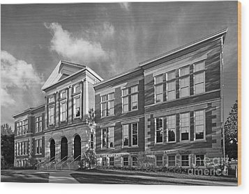 Purdue University Pfendler Hall Wood Print by University Icons