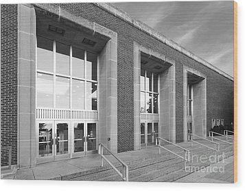 Purdue University Stewart Center Wood Print by University Icons
