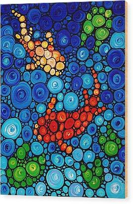 Pure Koi Joi Wood Print by Sharon Cummings