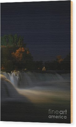 Pure Spirits Of The Waterfall Wood Print by Erhan OZBIYIK