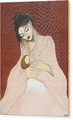 Purest Form Of Love Wood Print by Rejeena Niaz