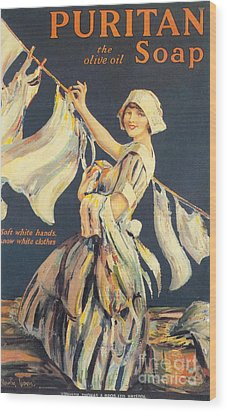 Puritan 1910s Uk Washing Powder Wood Print by The Advertising Archives