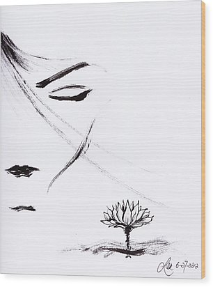 Purity Wood Print by Len YewHeng