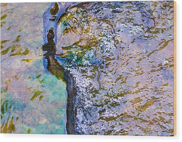 Purl Of A Brook 3 - Featured 3 Wood Print by Alexander Senin