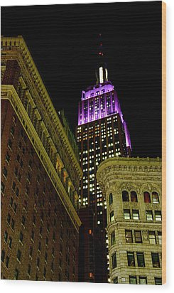 Wood Print featuring the photograph Purple Beacon by Michael Dorn