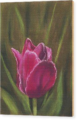 Purple Beauty Wood Print by Anastasiya Malakhova