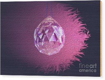 Purple Blaze Wood Print