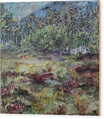 Purple  Wood Print by Brenda Berdnik