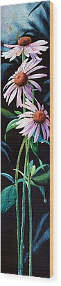 Purple Cone Flower 2 Wood Print by Hanne Lore Koehler