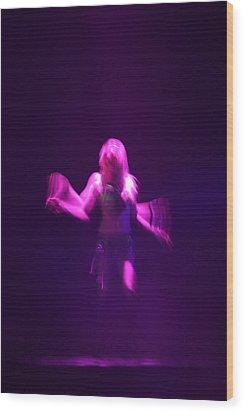 Purple Dancer Wood Print by Brad Scott