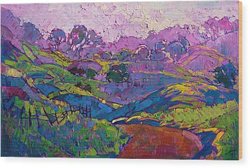 Purple Dawn Wood Print by Erin Hanson