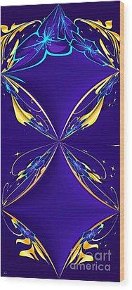 Purple Diamonds Wood Print by Liane Wright