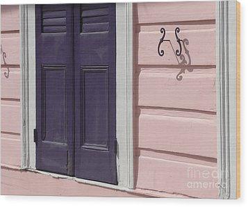 Purple Door Wood Print by Valerie Reeves