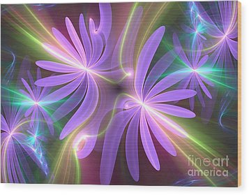 Purple Dream Wood Print by Svetlana Nikolova