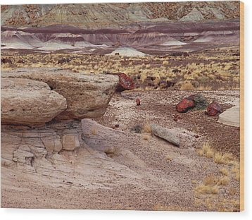 Purple Earth Wood Print by James Peterson