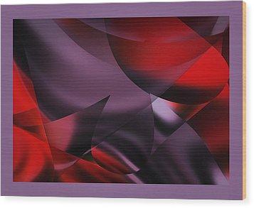 Purple Energy  Wood Print