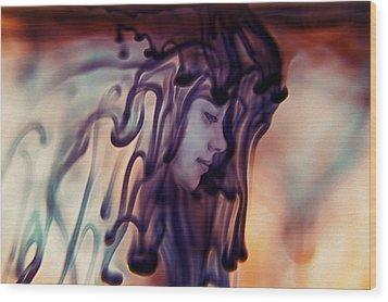 Purple Existence Wood Print