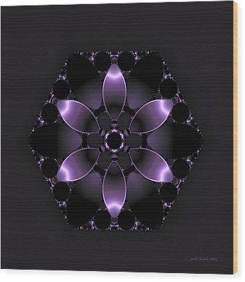 Purple Fantasy Flower Wood Print by Judi Suni Hall